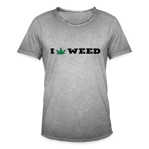 I LOVE WEED - Men's Vintage T-Shirt