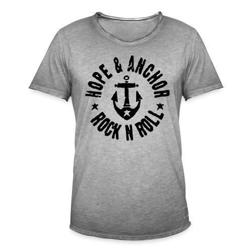 Hope & Anchor - Rock´n´Roll - Männer Vintage T-Shirt