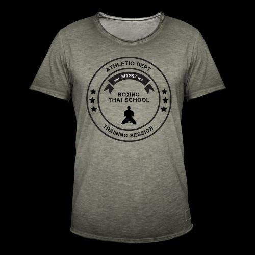 MTS92 BOXING THAI SCHOOL ROND - T-shirt vintage Homme