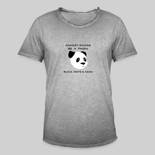 Against Racism Panda - Männer Vintage T-Shirt