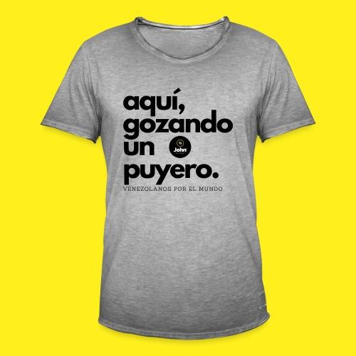 aqui gozando un puyero - Camiseta vintage hombre
