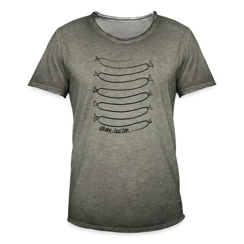 Wiener Illusion (schwarz auf weiß) - Männer Vintage T-Shirt