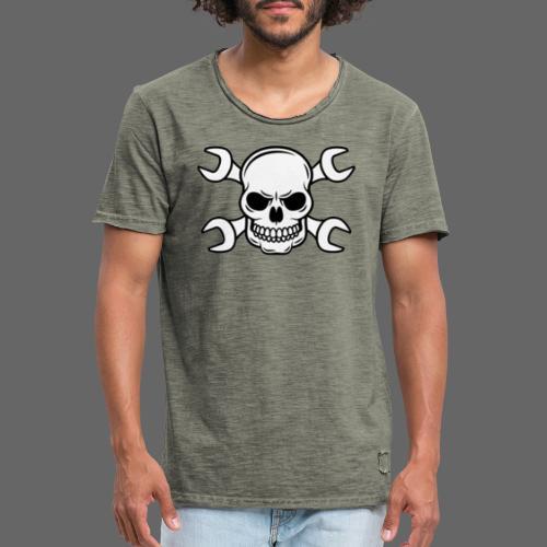 MEKKER SKULL - Herre vintage T-shirt