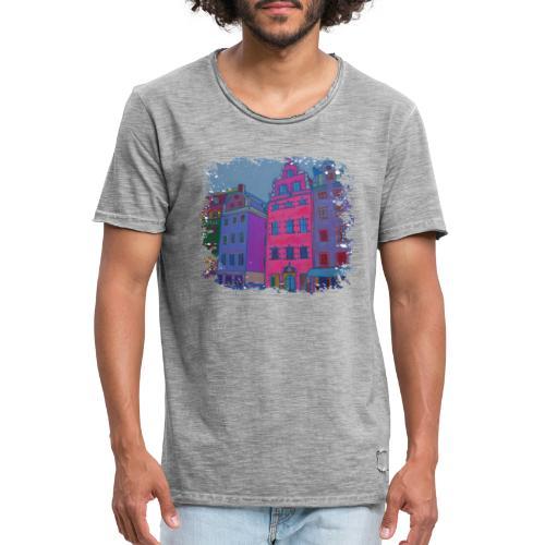 Stockholm - Männer Vintage T-Shirt