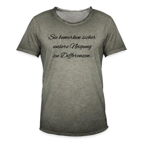 Differenzen Unstimmigkeit - Seven of Nine Spruch - Männer Vintage T-Shirt