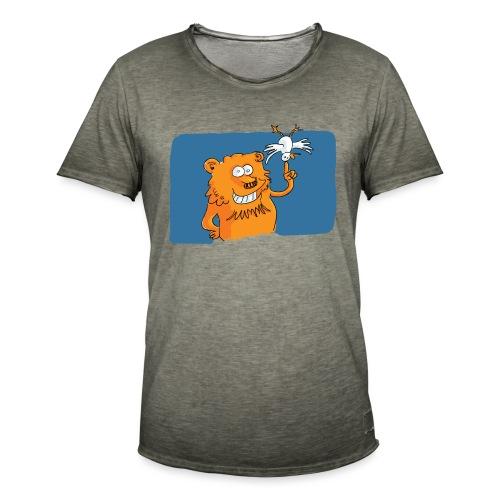 Le lion et l'oiseau - T-shirt vintage Homme