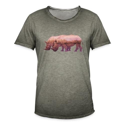 Nashorn Alpen - Männer Vintage T-Shirt
