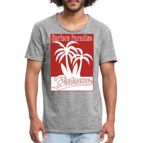 Patame Surfers Paradise Red - Männer Vintage T-Shirt