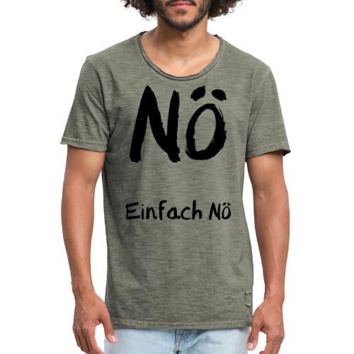 Einfach Nö - Männer Vintage T-Shirt
