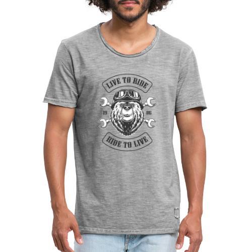 LTR Bear Light - T-shirt vintage Homme