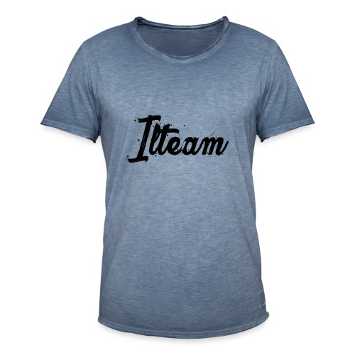 Ilteam Black and White - T-shirt vintage Homme