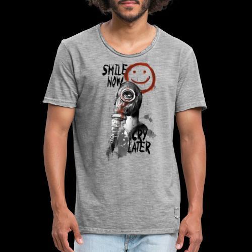 Smile now - Männer Vintage T-Shirt