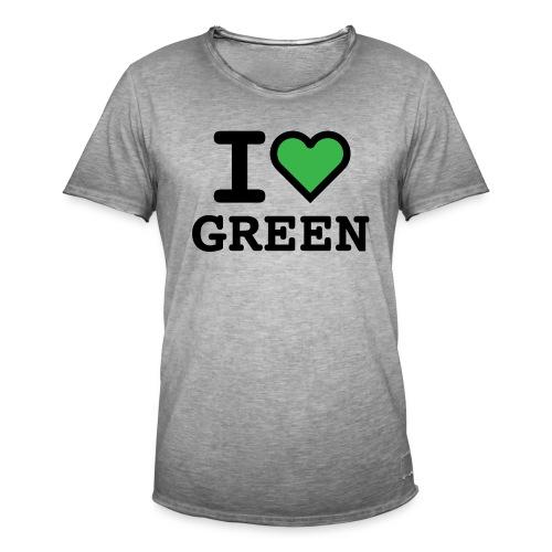 i-love-green-2.png - Maglietta vintage da uomo