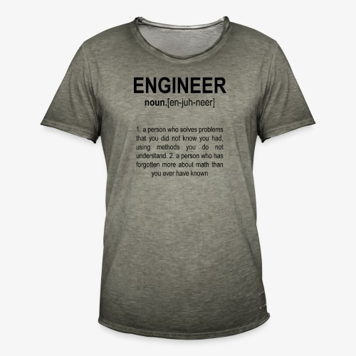 Engineer Def. 2 Black - T-shirt vintage Homme