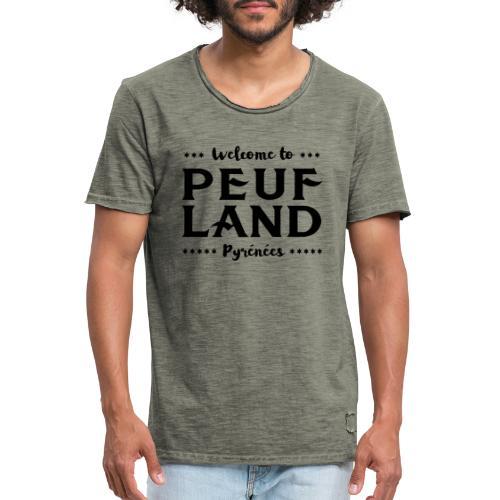 Peuf Land Pyrénées - Black - T-shirt vintage Homme