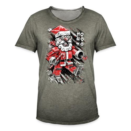 Robot Santa Claus - Men's Vintage T-Shirt