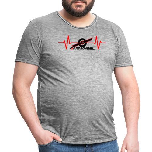 OneWheelLife (black text) - Herre vintage T-shirt