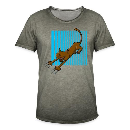 Chat griffes - T-shirt vintage Homme