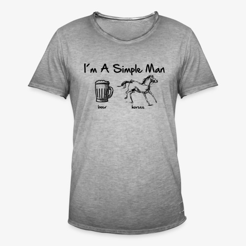 Vorschau: simple man pferd - Männer Vintage T-Shirt