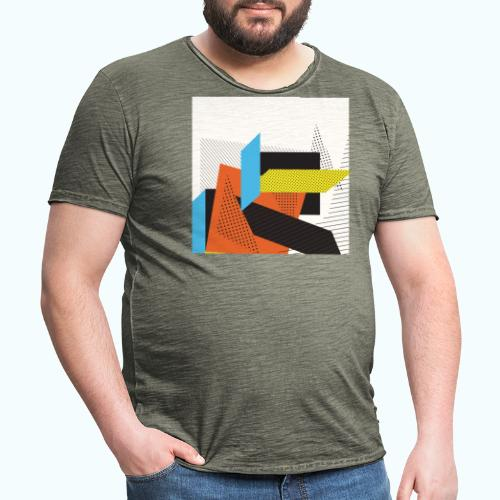 Vintage shapes abstract - Men's Vintage T-Shirt