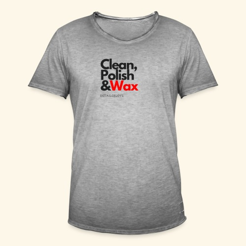 Clean,polish en wax - Mannen Vintage T-shirt