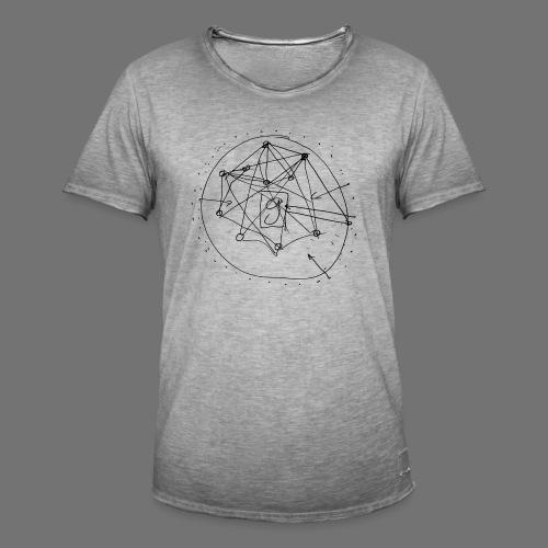 SEO strategia No.1 (musta) - Miesten vintage t-paita