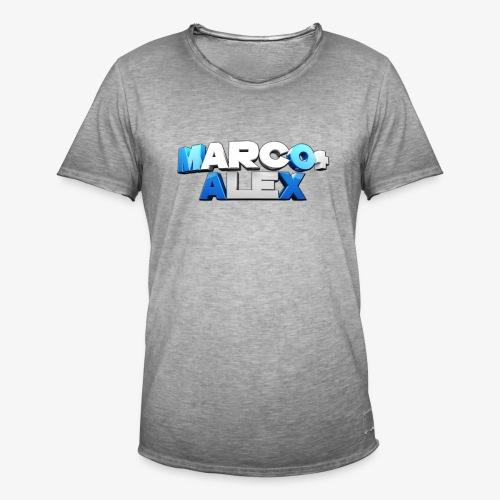 Logo Marco+Alex - Maglietta vintage da uomo