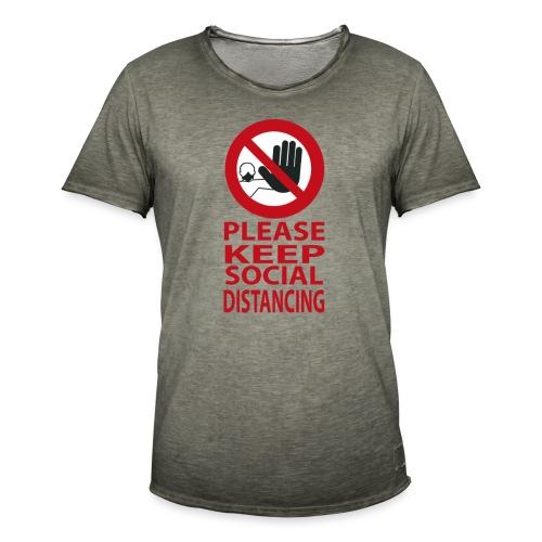 PLEASE KEEP SOCIAL DISTANCING - Maglietta vintage da uomo