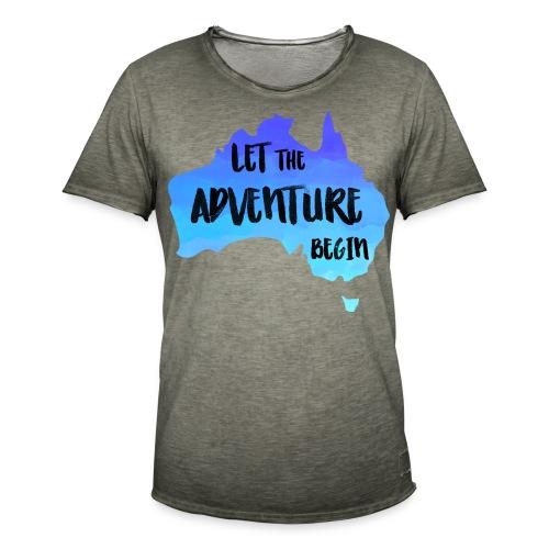 Australien Karte für Backpacker - Männer Vintage T-Shirt