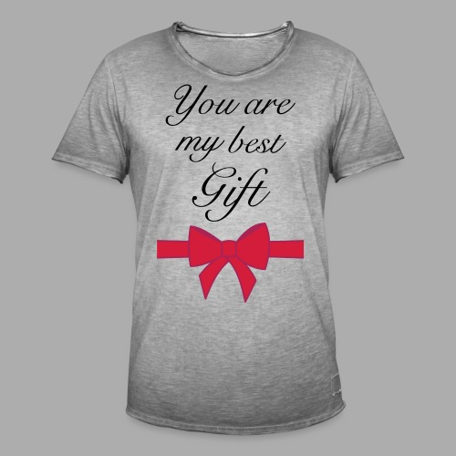 you are my best gift - Men's Vintage T-Shirt