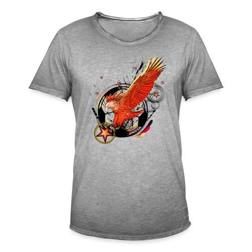 Adler mit Deutschland Stern - Männer Vintage T-Shirt