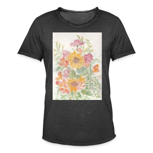 Flowers - Maglietta vintage da uomo