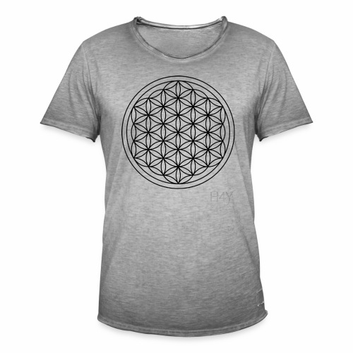 Flower Of Life - This Design Will Heal You - Herre vintage T-shirt