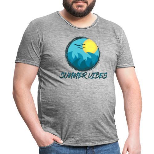 Summer Vibes - Maglietta vintage da uomo