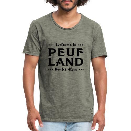 Peuf Land 05 - Hautes-Alpes - Black - T-shirt vintage Homme