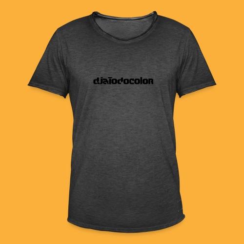 DJATODOCOLOR LOGO NEGRO - Camiseta vintage hombre