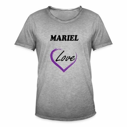 Mariel Love - Camiseta vintage hombre