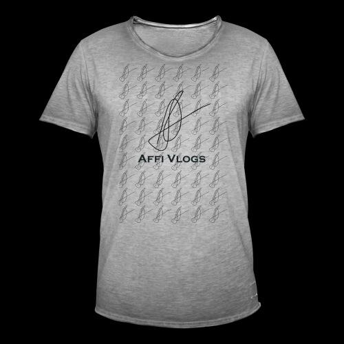 Affi Vlogs All over Tee - Männer Vintage T-Shirt