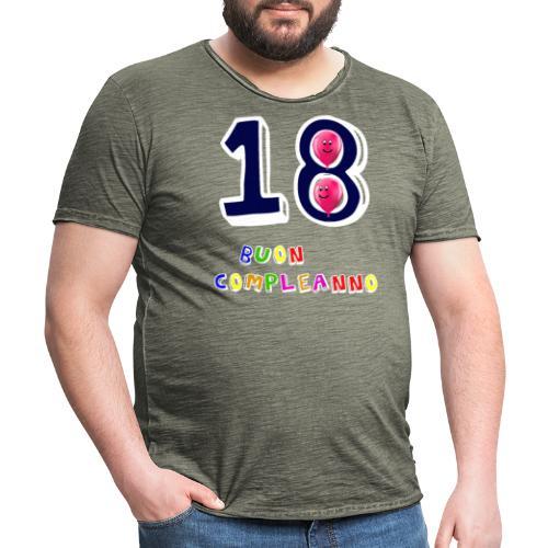 18 BUON compleanno - Maglietta vintage da uomo