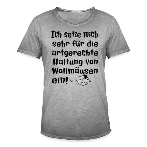 Wollmaus Staub Putzen Haushalt Wohnung Spruch - Männer Vintage T-Shirt
