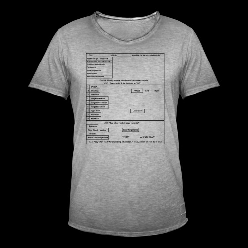 9-Line schwarz - Männer Vintage T-Shirt