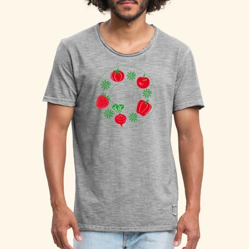 Frutos rojos del huerto - Camiseta vintage hombre