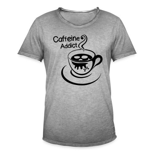 Caffeine Addict - Mannen Vintage T-shirt