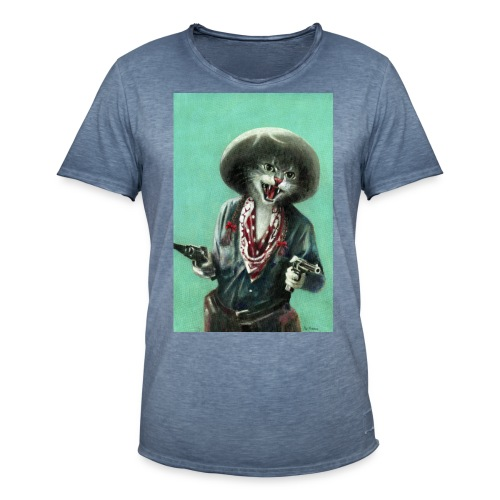 Vintage kitten Cow Girl - Men's Vintage T-Shirt