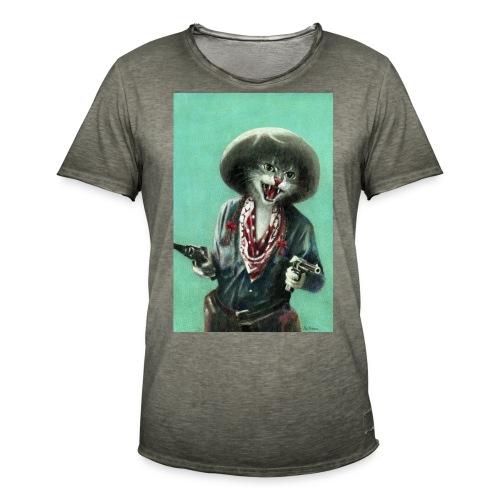 Vintage kitten Cow Girl - Men's Vintage T-Shirt