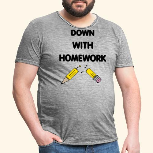 Down With Homework - T-shirt vintage Homme
