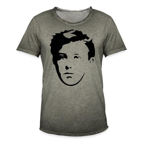 Arthur Rimbaud visage - T-shirt vintage Homme