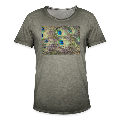Peacock feathers - Miesten vintage t-paita