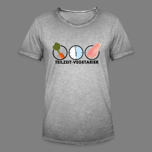 Teilzeit-Vegetarier - Männer Vintage T-Shirt