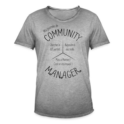 Le Design idéal pour le Community Manager - T-shirt vintage Homme